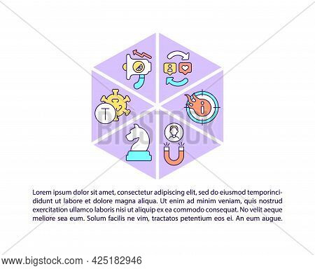 Viral Content Concept Line Icons With Text. Ppt Page Vector Template With Copy Space. Brochure, Maga