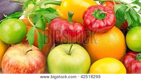 Background Of Fruits And Vegetables