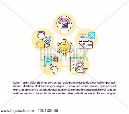 Justifiable And Logical Appeal Concept Line Icons With Text. Ppt Page Vector Template With Copy Spac