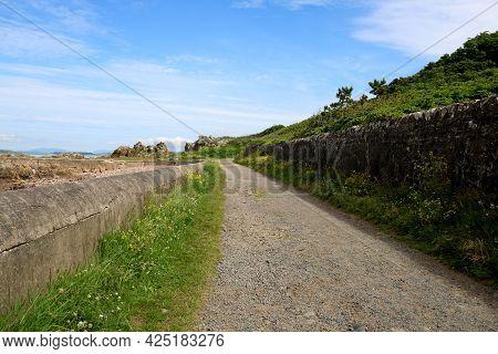 Rustic Coastal Footpath In A Rural Location
