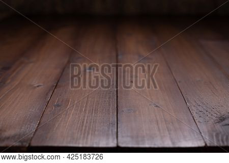 Wooden table top background texture.  Wood tabletop front view with copy space. Plank board surface