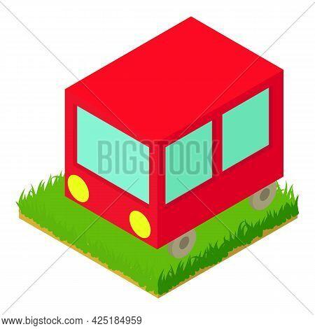 Bus Icon Isometric Vector. Autobus. Public Transportation