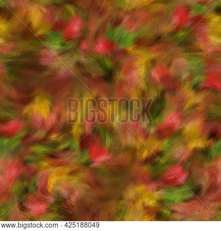 Seamless Faux Digital Painted Floral Pattern Print
