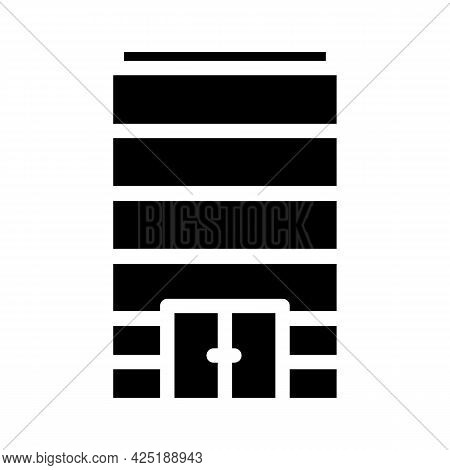Without Windows Modern House Glyph Icon Vector. Without Windows Modern House Sign. Isolated Contour
