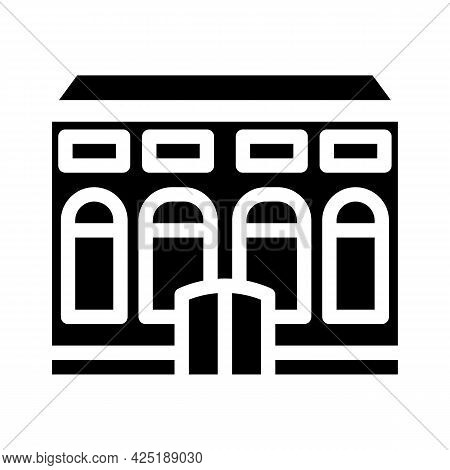 Residence House Glyph Icon Vector. Residence House Sign. Isolated Contour Symbol Black Illustration