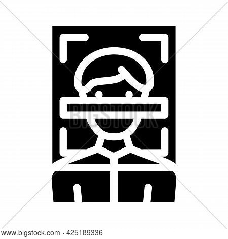 Client Scanning Kyc Glyph Icon Vector. Client Scanning Kyc Sign. Isolated Contour Symbol Black Illus