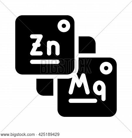 Macro And Microelements Food Glyph Icon Vector. Macro And Microelements Food Sign. Isolated Contour