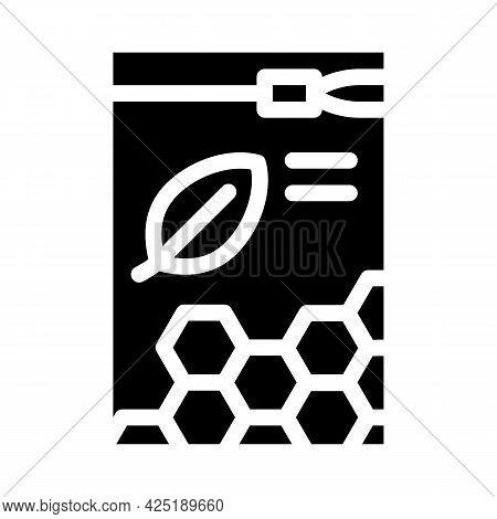 Organic White Beeswax Pellets Glyph Icon Vector. Organic White Beeswax Pellets Sign. Isolated Contou