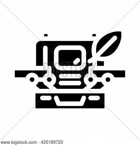 Case With Makeup Glyph Icon Vector. Case With Makeup Sign. Isolated Contour Symbol Black Illustratio