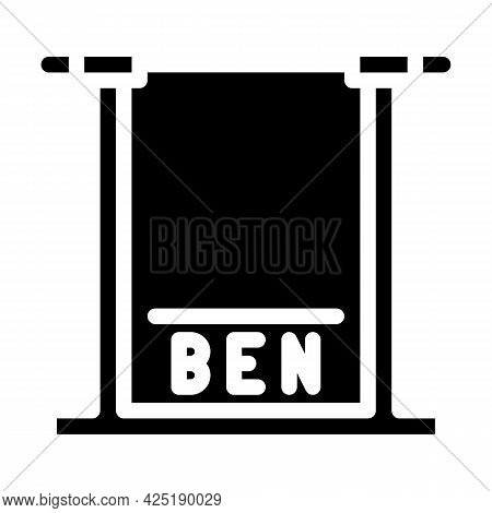 Height Control Parking Gate Glyph Icon Vector. Height Control Parking Gate Sign. Isolated Contour Sy