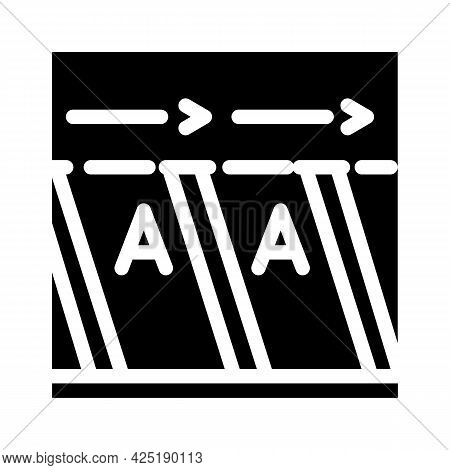 Free Parking Places Glyph Icon Vector. Free Parking Places Sign. Isolated Contour Symbol Black Illus