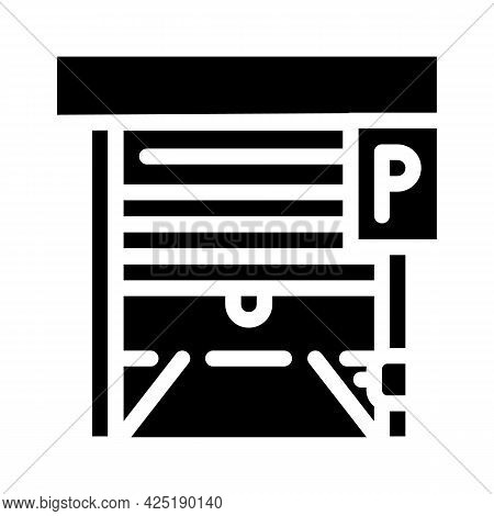Automatically Parking Gates Glyph Icon Vector. Automatically Parking Gates Sign. Isolated Contour Sy