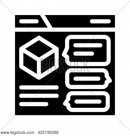Discussion Production Glyph Icon Vector. Discussion Production Sign. Isolated Contour Symbol Black I