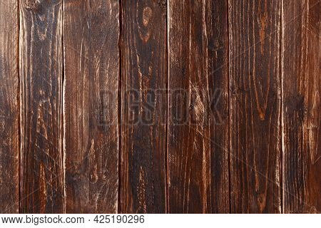 Wood Background Or Texture.vintage Brown Wood Backdrop Texture. Old Painted Wood Wall. Blank Space C