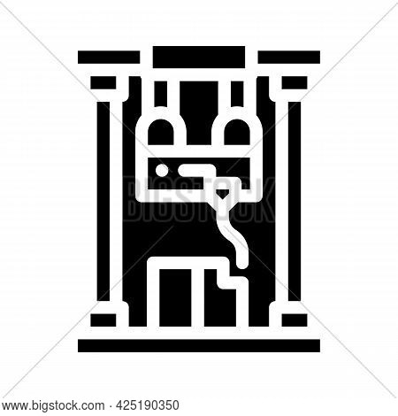 First Sample Production Glyph Icon Vector. First Sample Production Sign. Isolated Contour Symbol Bla