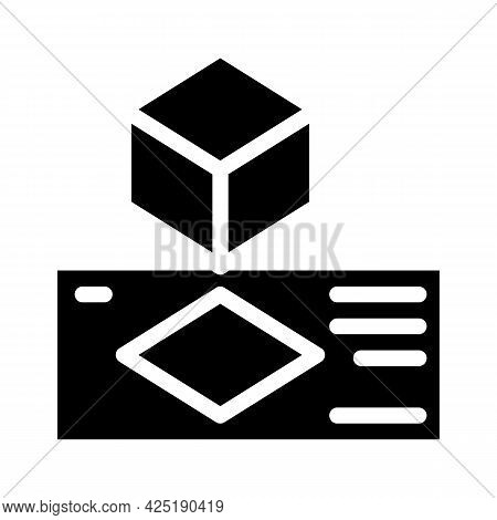 Creating Templates Glyph Icon Vector. Creating Templates Sign. Isolated Contour Symbol Black Illustr