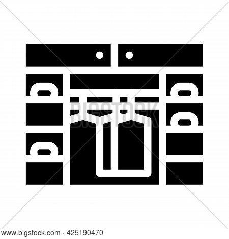 Cupboard Stylist Glyph Icon Vector. Cupboard Stylist Sign. Isolated Contour Symbol Black Illustratio