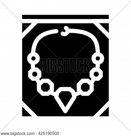 Jewelry Style Glyph Icon Vector. Jewelry Style Sign. Isolated Contour Symbol Black Illustration