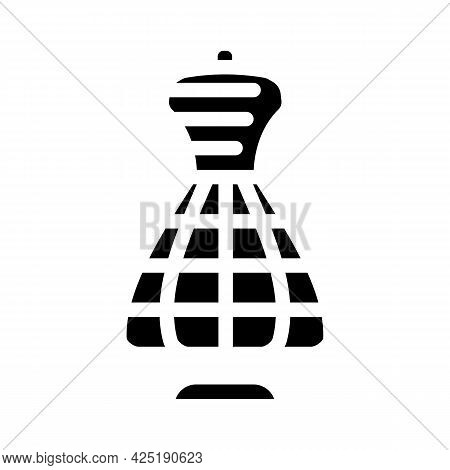 Sewing Mannequin Stylist Glyph Icon Vector. Sewing Mannequin Stylist Sign. Isolated Contour Symbol B
