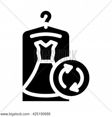 Dress Rent Service Glyph Icon Vector. Dress Rent Service Sign. Isolated Contour Symbol Black Illustr
