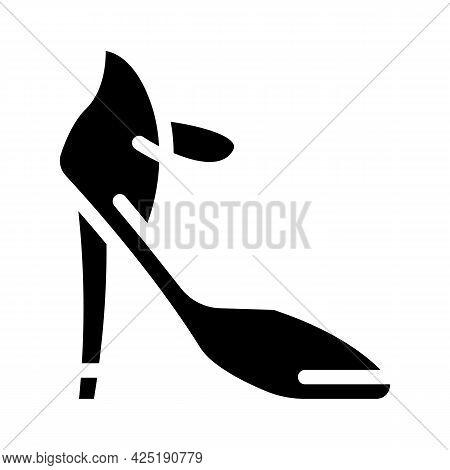 Footwear Stylist Glyph Icon Vector. Footwear Stylist Sign. Isolated Contour Symbol Black Illustratio
