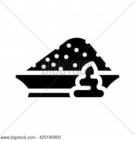 Powder Wasabi Glyph Icon Vector. Powder Wasabi Sign. Isolated Contour Symbol Black Illustration