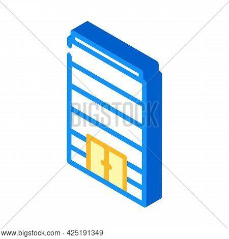 Without Windows Modern House Isometric Icon Vector. Without Windows Modern House Sign. Isolated Symb