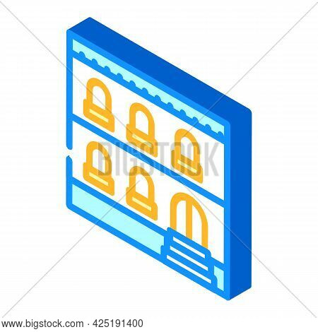 Arabian House Isometric Icon Vector. Arabian House Sign. Isolated Symbol Illustration