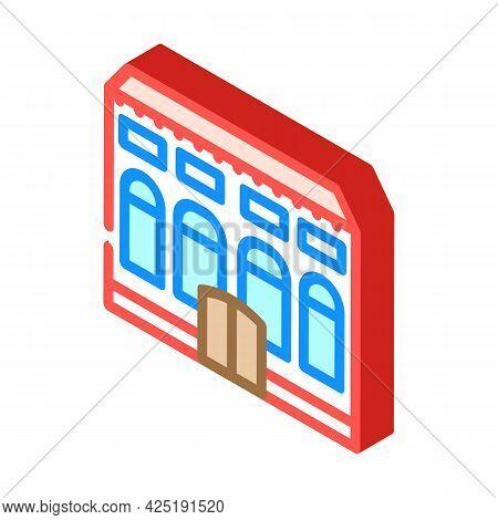 Residence House Isometric Icon Vector. Residence House Sign. Isolated Symbol Illustration