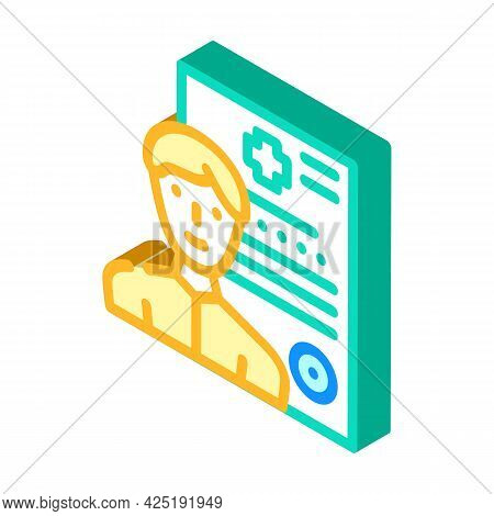 Medical Data Client Information Kyc Isometric Icon Vector. Medical Data Client Information Kyc Sign.
