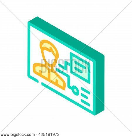 Client Analysis Kyc Isometric Icon Vector. Client Analysis Kyc Sign. Isolated Symbol Illustration