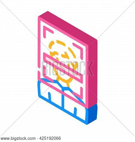 Client Scanning Kyc Isometric Icon Vector. Client Scanning Kyc Sign. Isolated Symbol Illustration