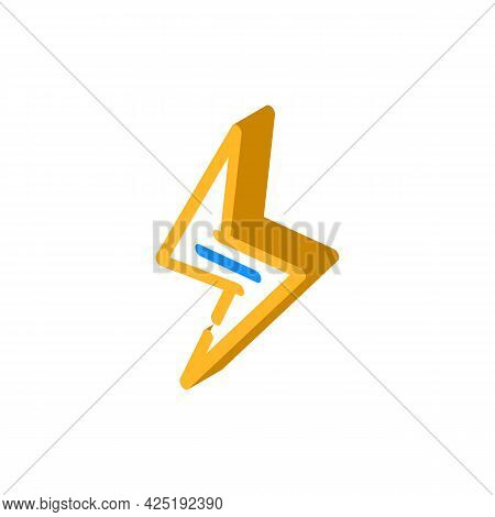 Energy Nutrition Isometric Icon Vector. Energy Nutrition Sign. Isolated Symbol Illustration