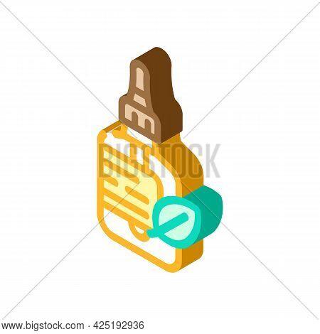 Castor Oil Isometric Icon Vector. Castor Oil Sign. Isolated Symbol Illustration