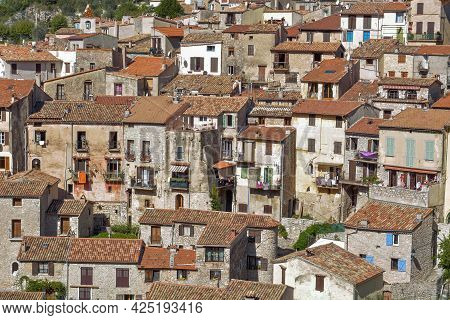 Peille, One Of The Most Beautiful Hilltop Villages On The Côte D'azur. Medieval Village Built On The