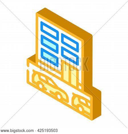 Underground Parking Isometric Icon Vector. Underground Parking Sign. Isolated Symbol Illustration