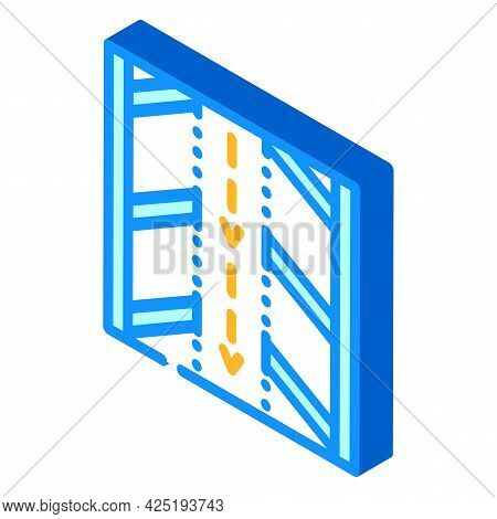 Direction Arrows On Parking Isometric Icon Vector. Direction Arrows On Parking Sign. Isolated Symbol
