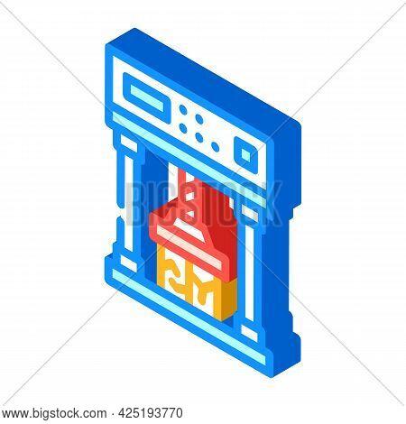 Crash Test Isometric Icon Vector. Crash Test Sign. Isolated Symbol Illustration