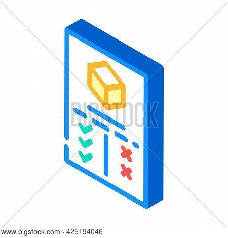 Analysis Plus And Minus Production Isometric Icon Vector. Analysis Plus And Minus Production Sign. I