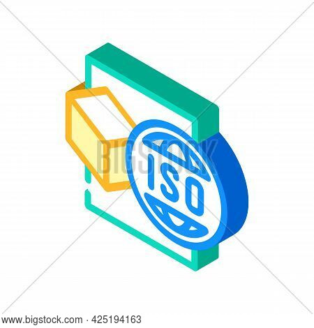 Iso Standard Production Isometric Icon Vector. Iso Standard Production Sign. Isolated Symbol Illustr