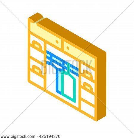 Cupboard Stylist Isometric Icon Vector. Cupboard Stylist Sign. Isolated Symbol Illustration