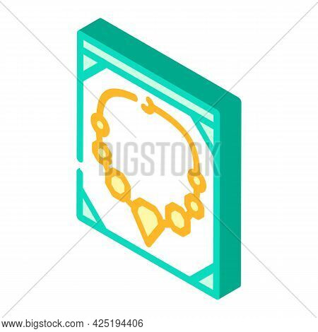 Jewelry Style Isometric Icon Vector. Jewelry Style Sign. Isolated Symbol Illustration