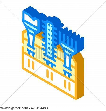 Tool Set Stylist Isometric Icon Vector. Tool Set Stylist Sign. Isolated Symbol Illustration