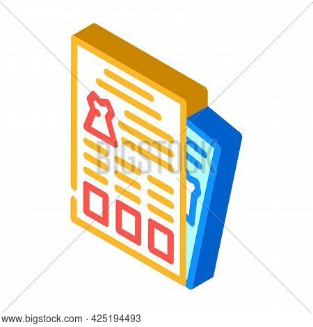 Catalog Stylist Isometric Icon Vector. Catalog Stylist Sign. Isolated Symbol Illustration