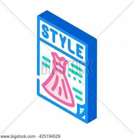 Magazine Style Isometric Icon Vector. Magazine Style Sign. Isolated Symbol Illustration