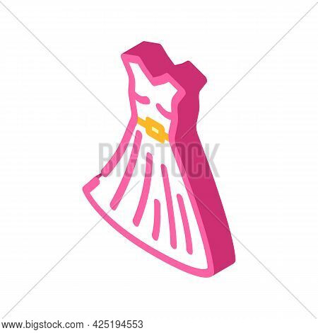 Dress Stylist Isometric Icon Vector. Dress Stylist Sign. Isolated Symbol Illustration