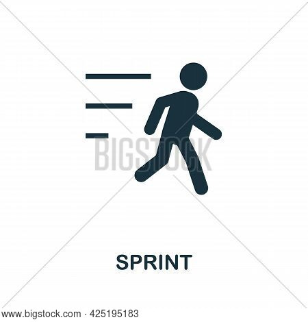 Sprint Icon. Simple Creative Element. Filled Monochrome Sprint Icon For Templates, Infographics And