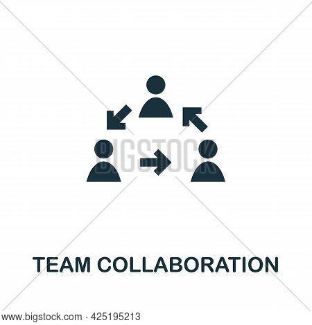 Team Collaboration Icon. Simple Creative Element. Filled Monochrome Team Collaboration Icon For Temp