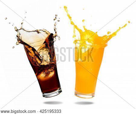 Soda, Cola, Cold Drink. Soft Cold Drink. Beverage
