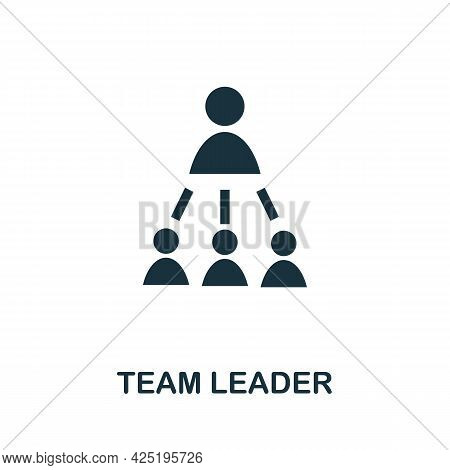 Team Leader Icon. Simple Creative Element. Filled Monochrome Team Leader Icon For Templates, Infogra